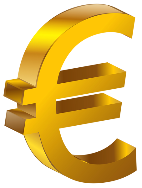 Transparent Gold Euro PNG Clipart