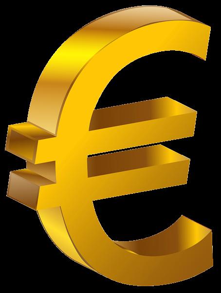 Transparent Gold Euro PNG Clipart
